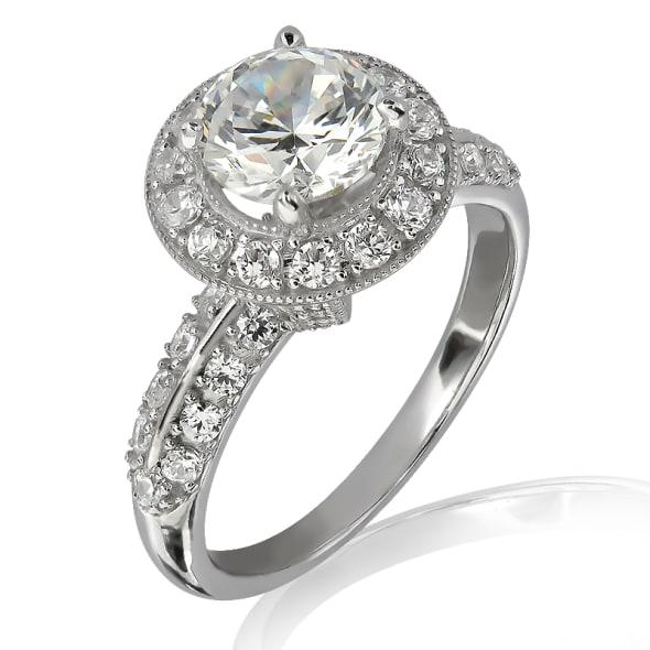 แหวนทอง 18K ประดับเพชร น้ำหนักรวม 0.90 กะรัต ค่าสี E ค่าความสะอาด VS2 เพชรมาพร้อมใบรับรองจาก GIA
