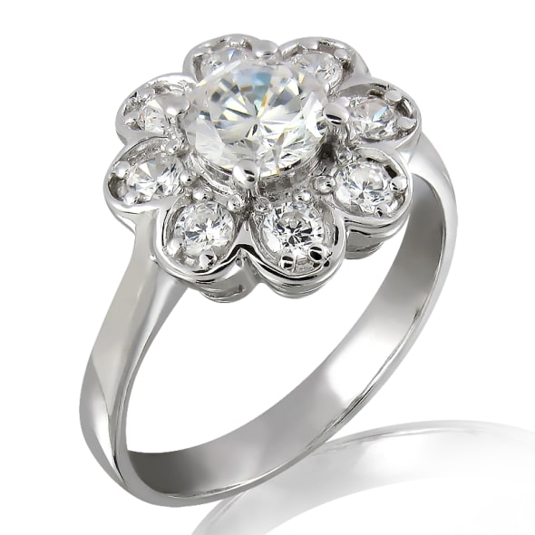 18K Gold and 0.75 Carat E Color VS2 Clarity GIA Certified Diamond Ring