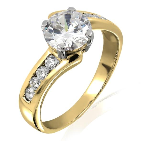 แหวนทอง 18K ประดับเพชร น้ำหนักรวม 0.65 กะรัต ค่าสี E ค่าความสะอาด VS2 เพชรมาพร้อมใบรับรองจาก GIA