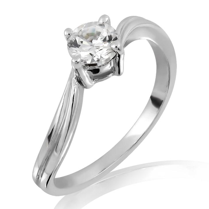 แหวนทอง 18K ประดับเพชร น้ำหนักรวม 1.00 กะรัต ค่าสี F ค่าความสะอาด VS2 เพชรมาพร้อมใบรับรองจากสถาบัน IGL