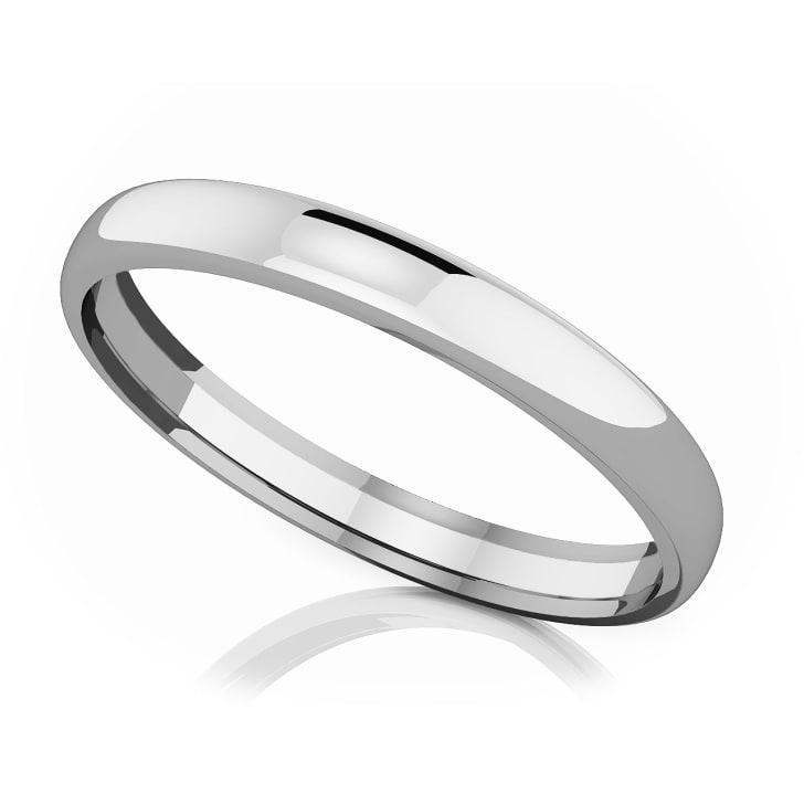 แหวนPlatinum - 3 mm comfort fit classic