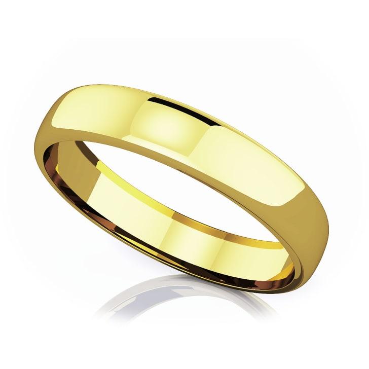 แหวนทอง - 18K 4.50 mm Domed shape romantic classic band