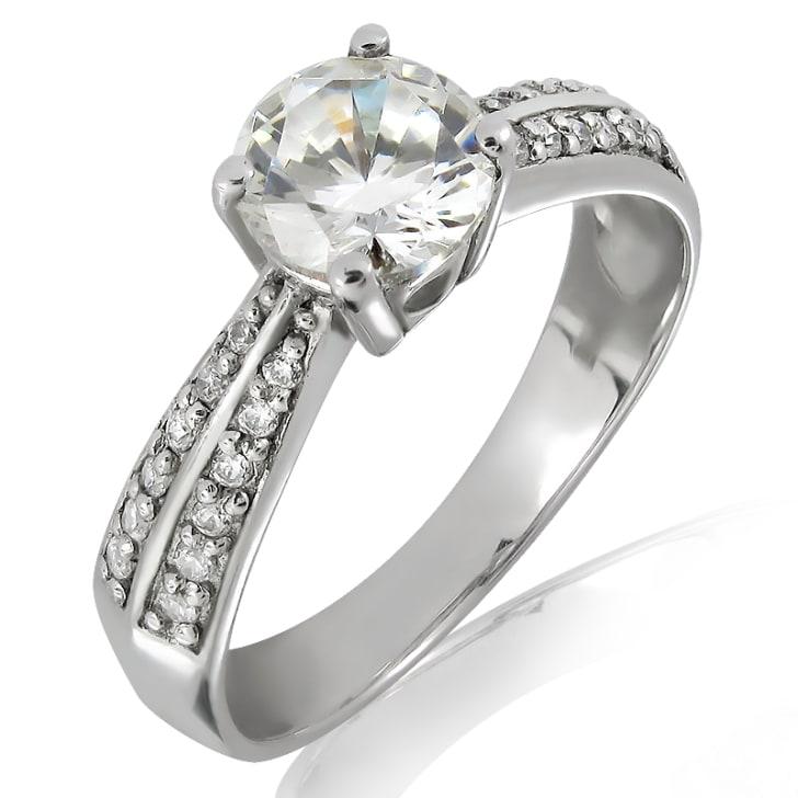แหวนทอง 18K ประดับเพชร น้ำหนักรวม 0.50 กะรัต ค่าสี G  ค่าความสะอาด VS2 เพชรมาพร้อมใบรับรองจากสถาบัน IGI