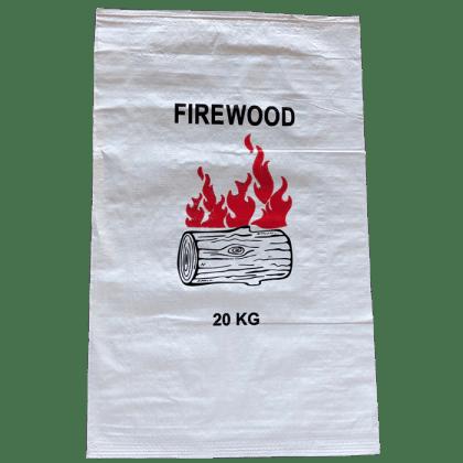 Woven Polypropylene - 100 Printed Firewood Bag 56 x 91 CM