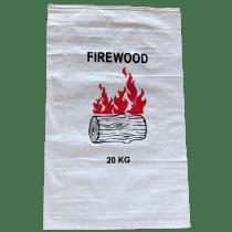 Woven Polypropylene - 20 Kg PRINTED firewood Bag - Pack of 100