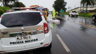 Motociclista morre em acidente na BR-282 em Joaçaba