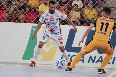 Joaçaba Futsal e Magnus decidem vaga nas quartas de final da LNF neste sábado