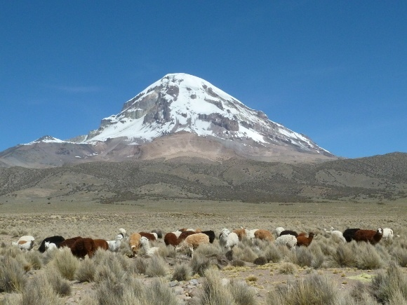 The Sajama volcano in Bolivia - Tribal beliefs among Bolivian tribes