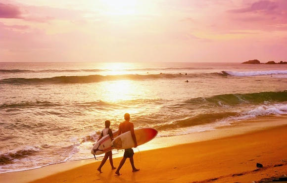 An ideal surfing destination