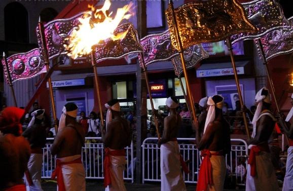 Temple flag bearers
