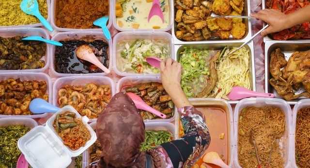 Southeast Asian street food: Indonesian Nasi Rames