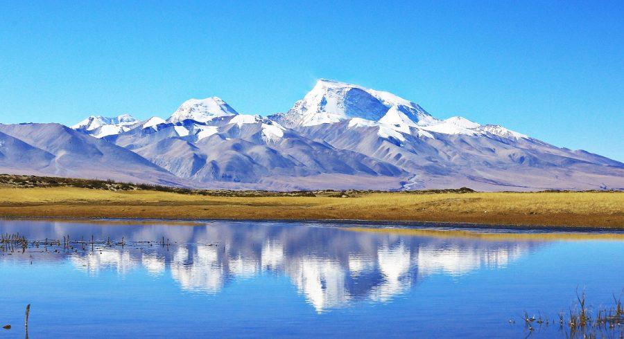 Bergpanorama in Tibet