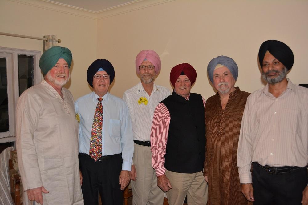 Member of the Rotary Club of Wagga Wagga in India