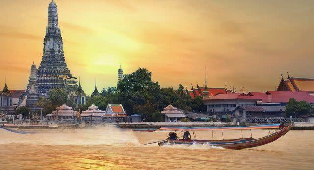 Bootsfahrt auf Chao Phraya Fluss