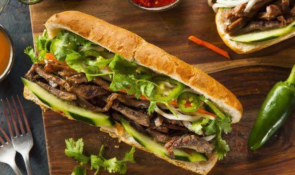 Vietnamesisches Pork Banh Mi Sandwich