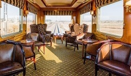 Lounge wagon at Blue Train (Kapstadt – Pretoria) in Südafrika