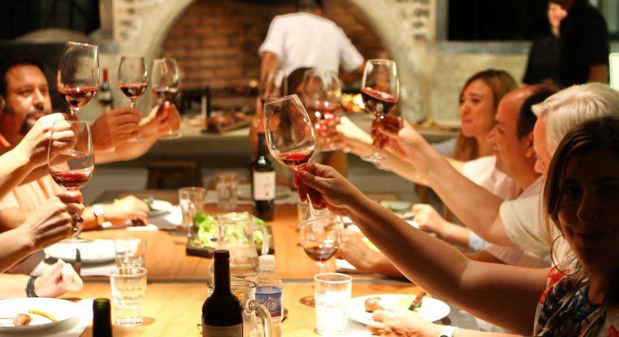 Abendessen in Argentinien während einer Bildungsreise