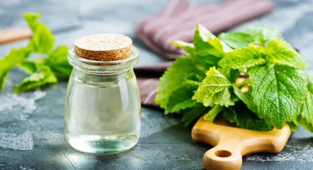 Peppermint helps alleviate headaches