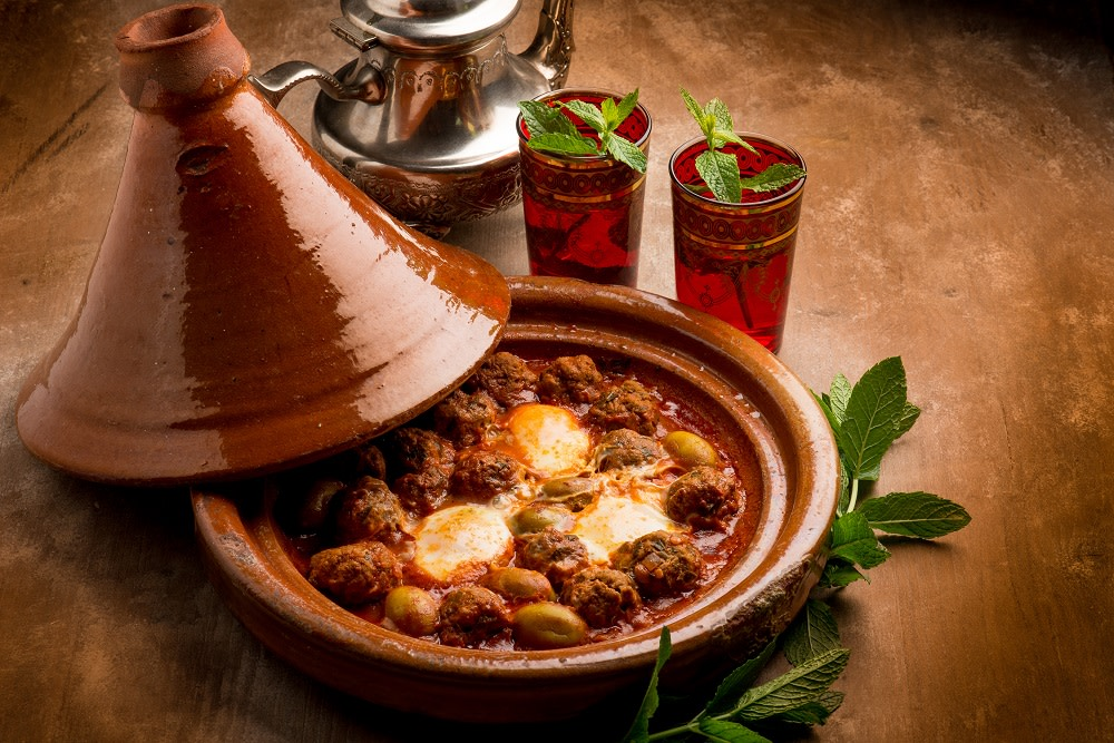 Traditional tajine pot in Morocco - makes it to our Top 10 food destinations