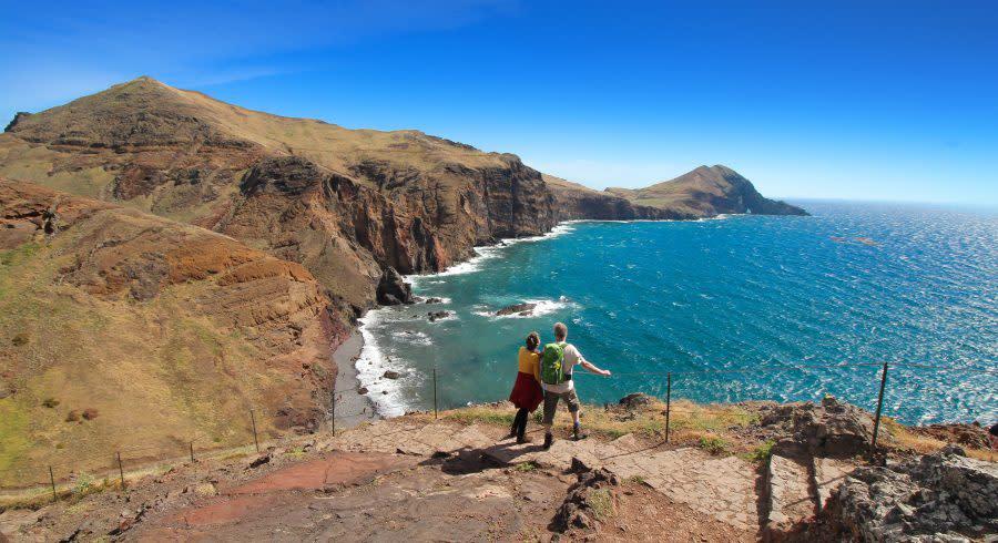 Tip of St. Lawrence (Ponta de São Lourenço) Madeira island in Portugal