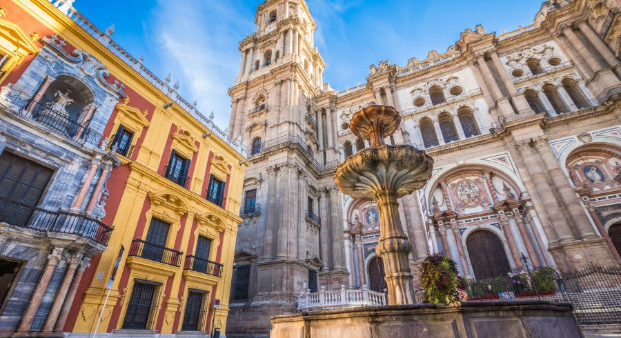 Malaga courtyard, Spain
