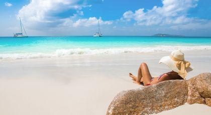 Praslin Island in Seychellen