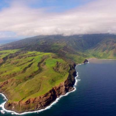 Aerial view of the Island of Molokai