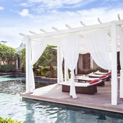 Outdoor Area, Cinq Mondes Spa at Sugar Beach in Mauritius