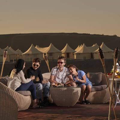 Al Fresco dune top dining