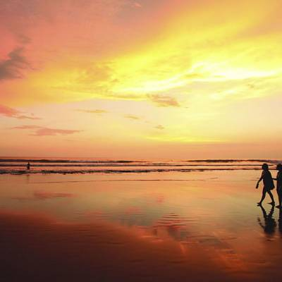 This is a photo of sunset on Legian Beach