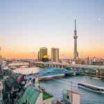 Sumida Fluss in Tokio