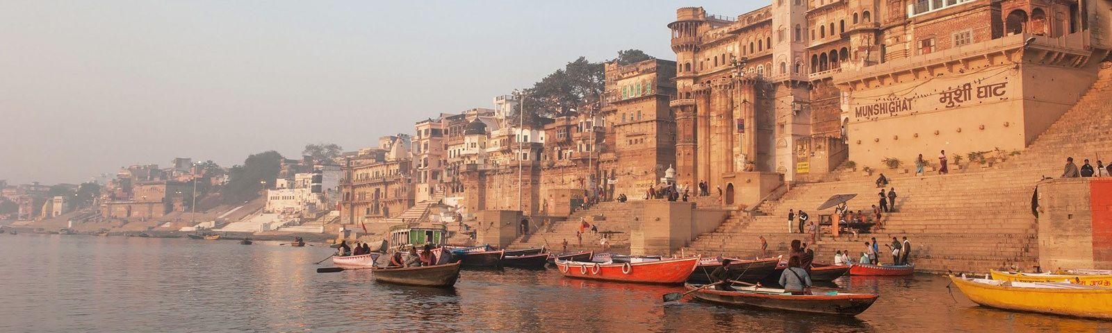 Varanasi India, Ganges river shore