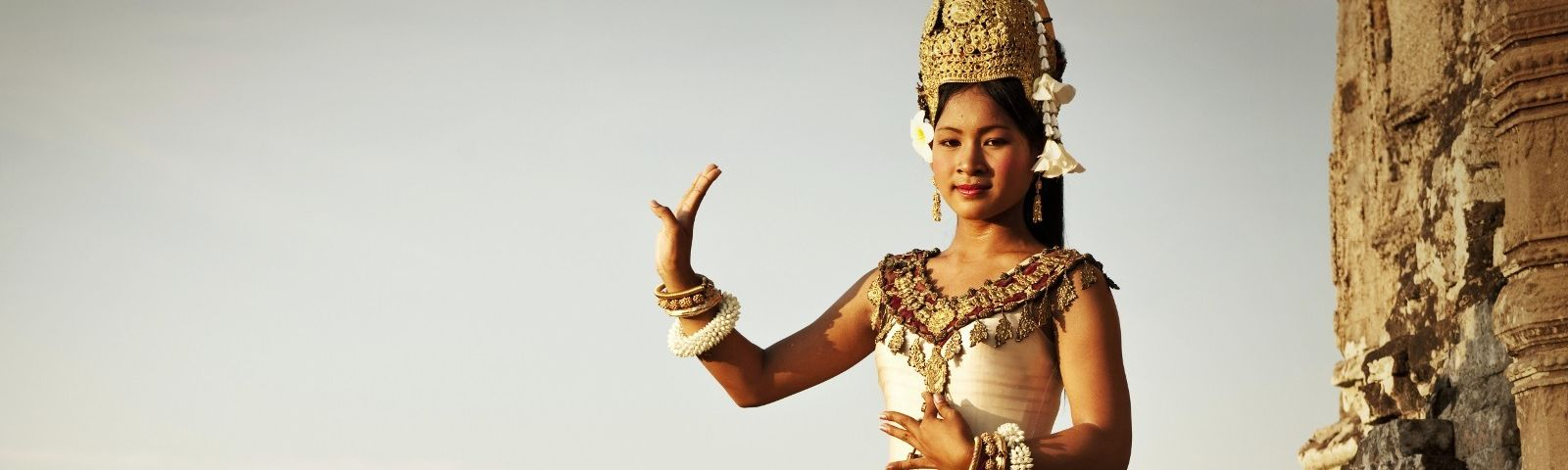 A dancer at Angkor Wat in Cambodia