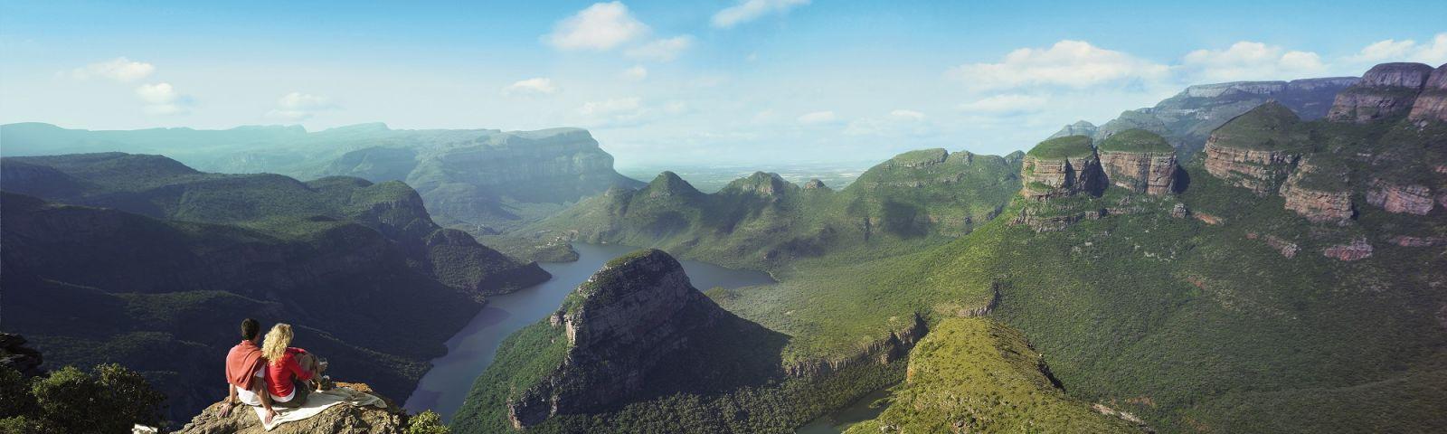 Landschaft in Südafrika bei strahlendem Wetter