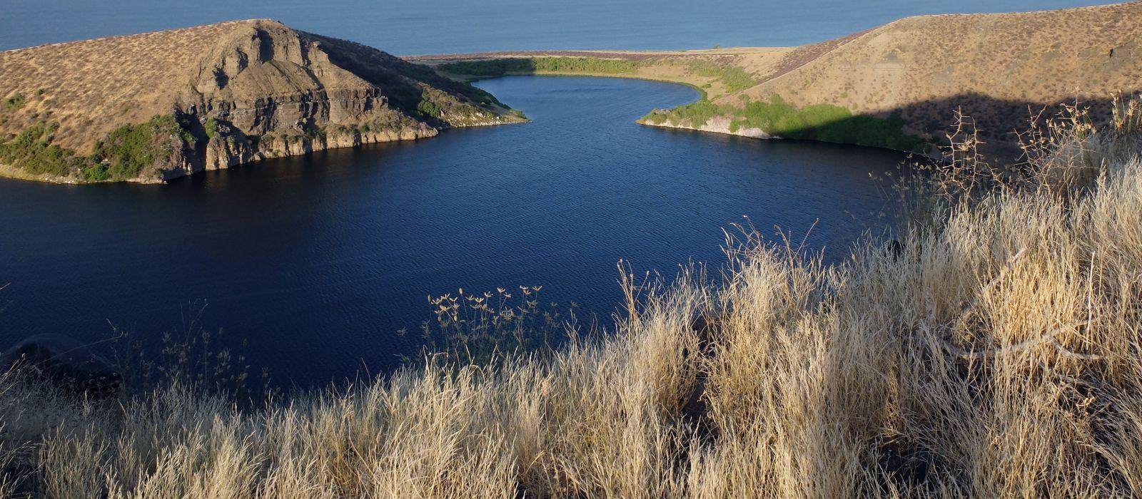 Crocodile lake, Central island national park, Turkana lake, Northern Kenya