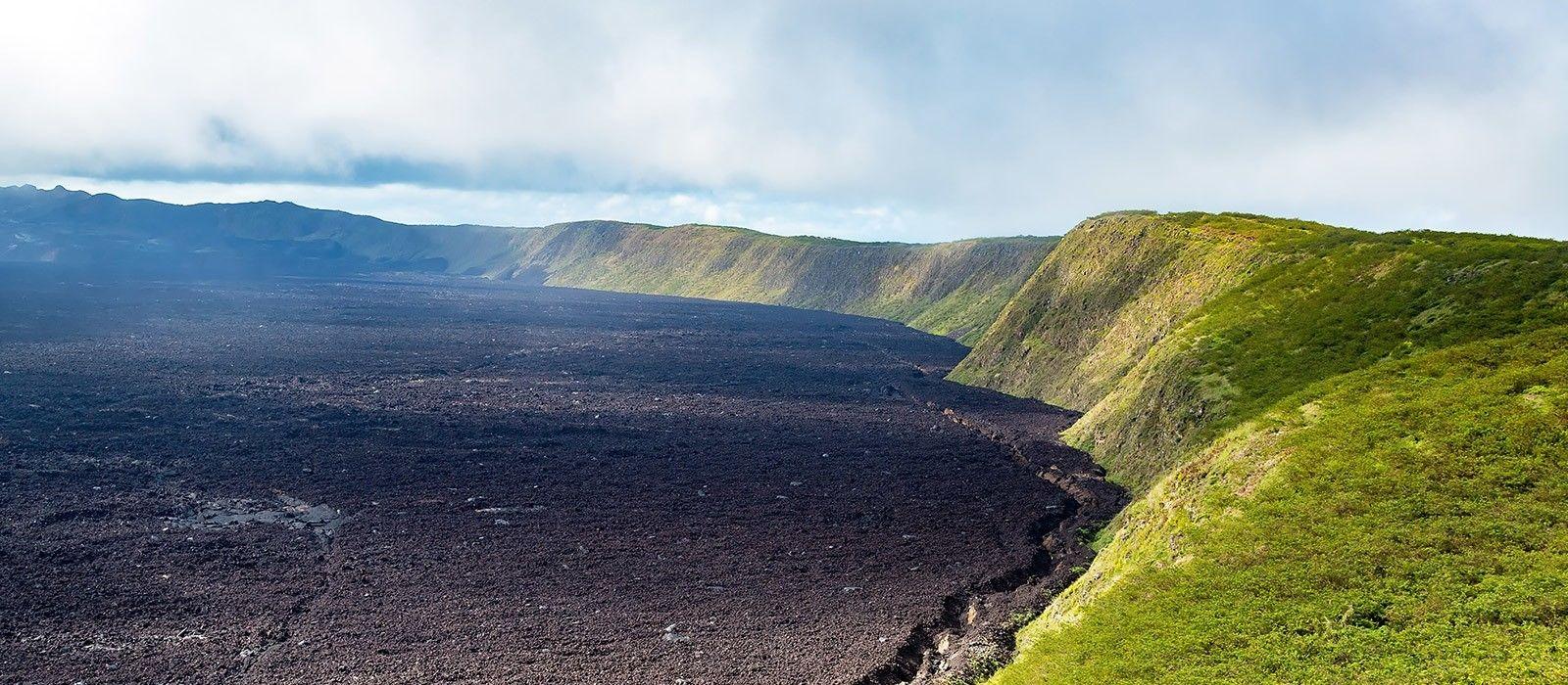 Der Sierra Negra Vulkan auf der ecuadorianischen Isla Isabela