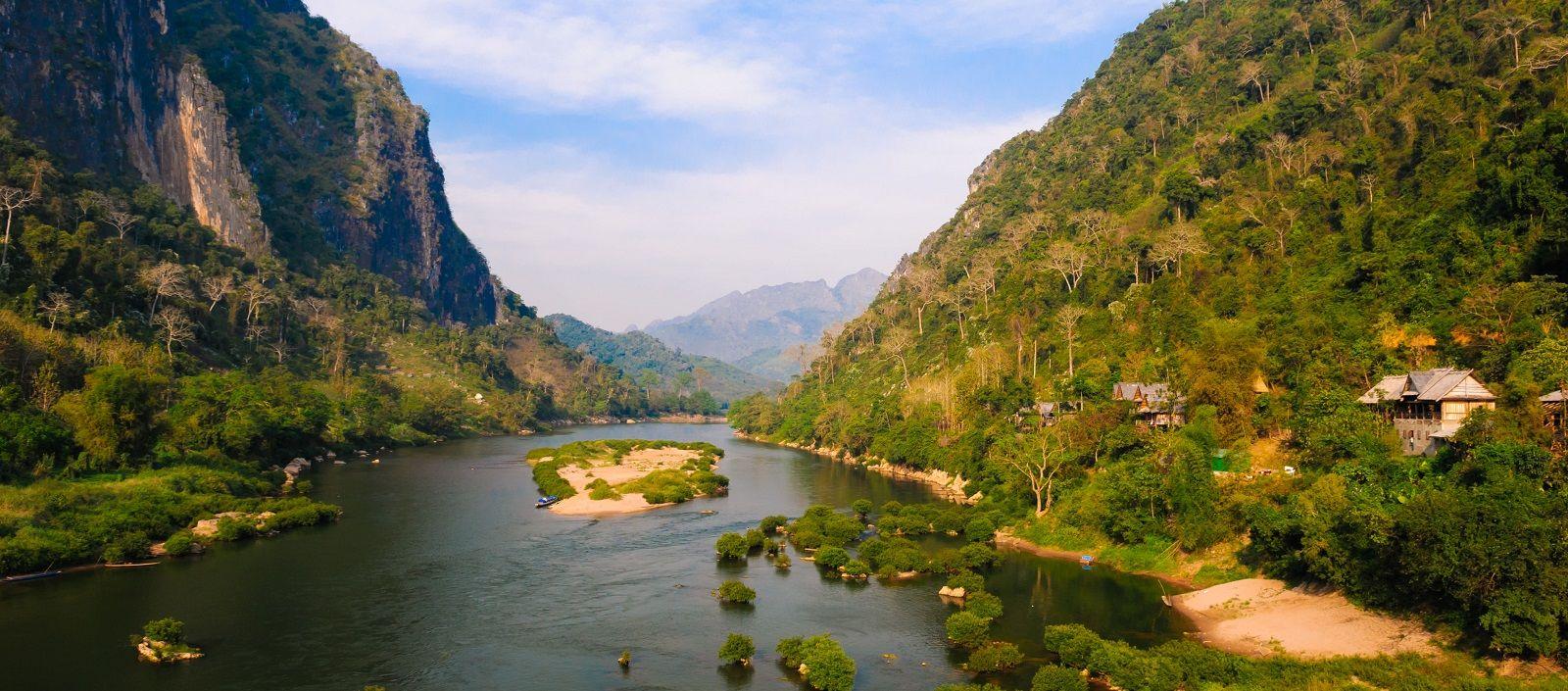 Talfluss in Laos
