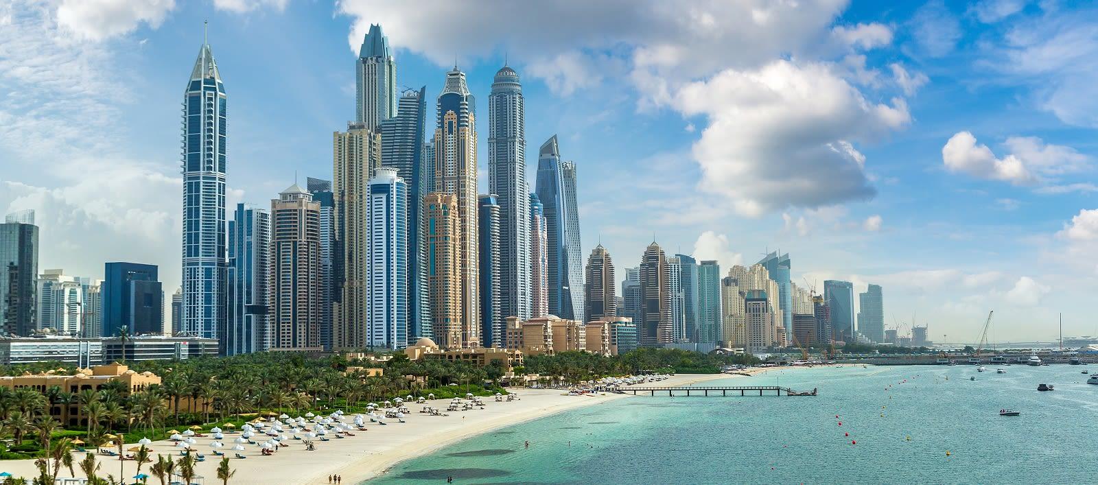 Enchanting Travels UAE Tours Dubai Marina in a summer day, United Arab Emirates