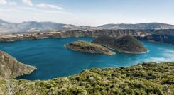 Cuicocha crater lake, Reserve Cotacachi-Cayapas, Ecuador, South America