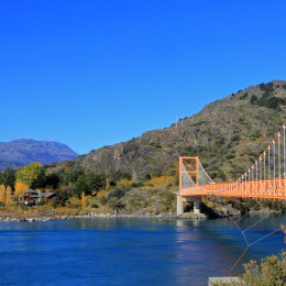 General Carrera Bridge, Bertrand Lake, Carretera Austral Chile, South America