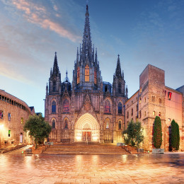 Gothic Barcelona Cathedral at night Spain, Europe Tours - Summer is the best time to visit Europe