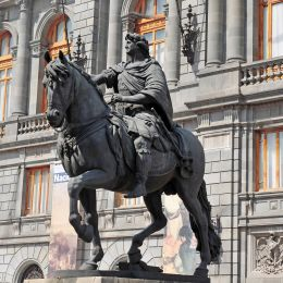 National Museum of Art and Statue of Charles IV in Mexico City historic centre