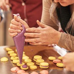 Enchanting Travels France Tours Process of making macaron macaroon, french dessert