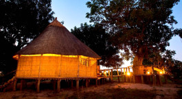 External view at Nsolo Bush Camp in South Luangwa, Zambia