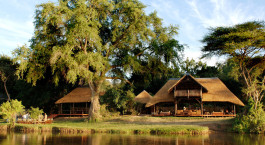 Exterior view at Chiawa Camp in Lower Zambezi, Zambia