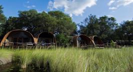 Exterior view at Camp Okuti in Okavango Delta, Botswana