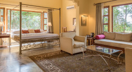 Double room at Dev Vilas Hotel in Ranthambore, North India