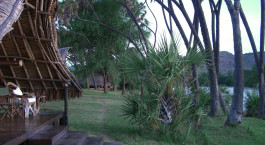 Terrace at Galdessa Camp, Tsavo East, Kenya