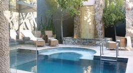 Pool im The Saxon , Villas & Spa Hotel in Johannesburg, Südafrika