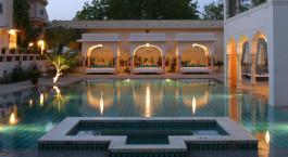 Enchanting Travels - Indien Reisen - Jaipur - Samode Haveli - Pool